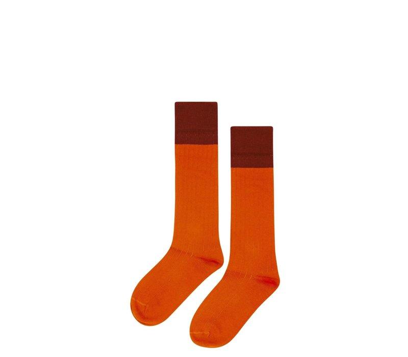 Mingo Knee socks Bitter Chocolate - Cinamon