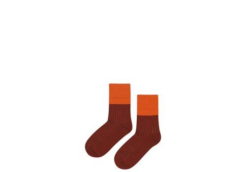 Mingo Mingo socks Bitter Chocolate - Cinamon