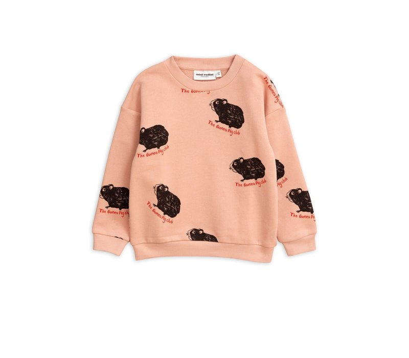 Mini Rodini sweater Guinea pig Pink
