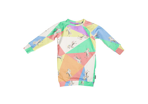 Snurk Snurk Unicorn Disco Sweater Dress
