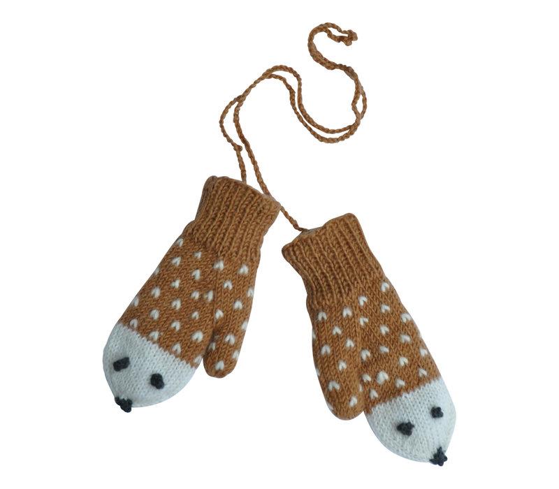 Hats over Heels Hedgehog gloves caramel
