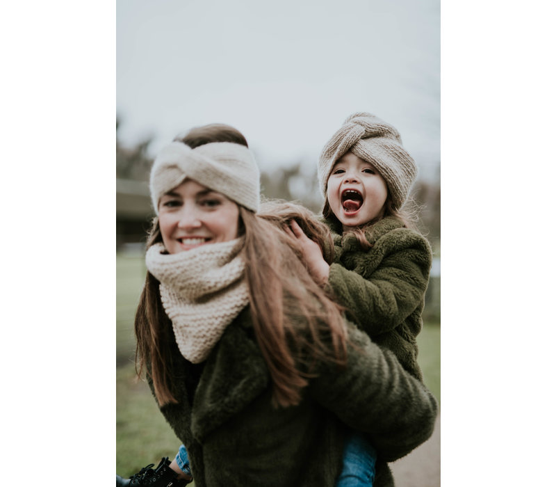 Hats over Heels Turban Headband beige (kids and adult)