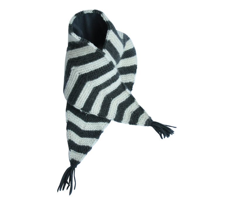 Hats over Heels Skunk Scarf Dark Grey