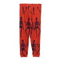 Mini Rodini Skeleton trousers red