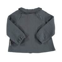 Piupiuchick Peter Pan collar blouse Anthracite