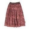 PIUPIUCHICK Piupiuchick Pleated long skirt coral animal print