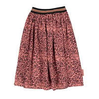 Piupiuchick Pleated long skirt coral animal print
