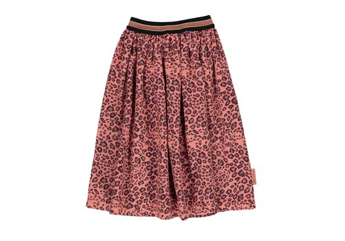 PIUPIUCHICK Piupiuchick Pleated long skirt coral animal print