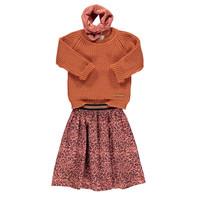 Piupiuchick Pleated long skirt coral animal print
