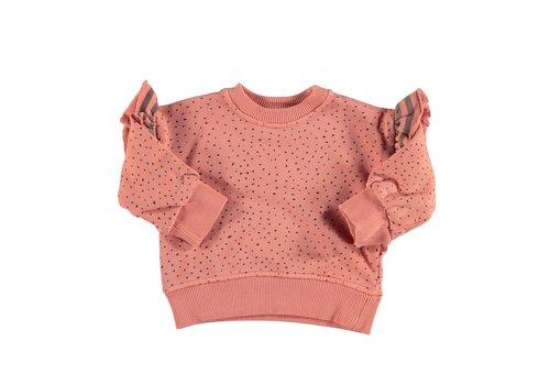 PIUPIUCHICK Piupiuchick Sweatshirt Coral with black dots