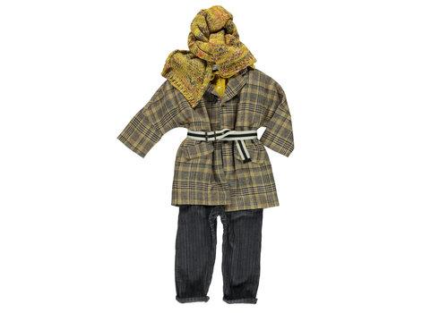 PIUPIUCHICK Piupiuchick Knitted scarf Flecked mustard