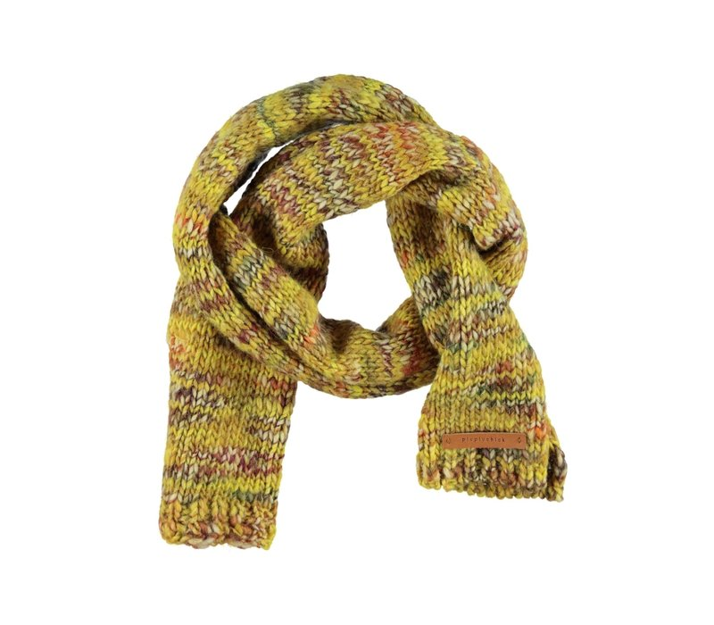 Piupiuchick Knitted scarf Flecked mustard