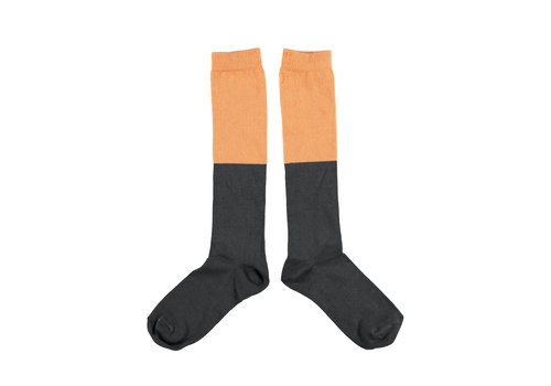 PIUPIUCHICK Piupiuchick socks Salmon and anthracite