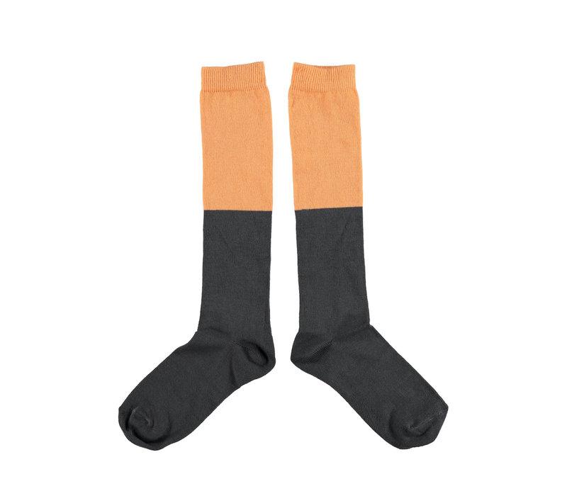Piupiuchick socks Salmon and anthracite