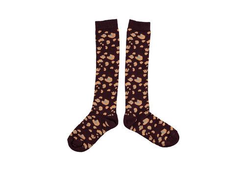 PIUPIUCHICK Piupiuchick socks Dark violet animal print