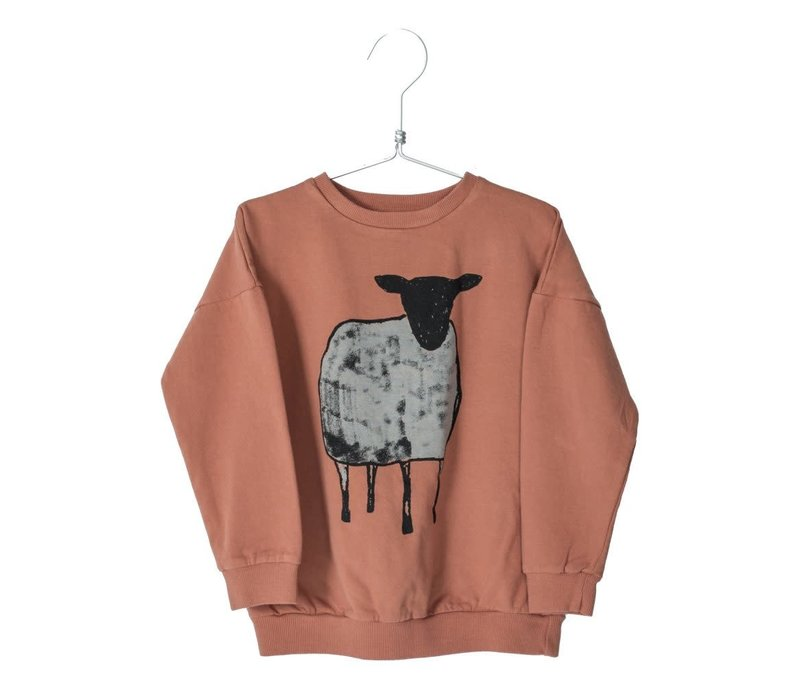 Lotiekids Sweatshirt Sheep Brick
