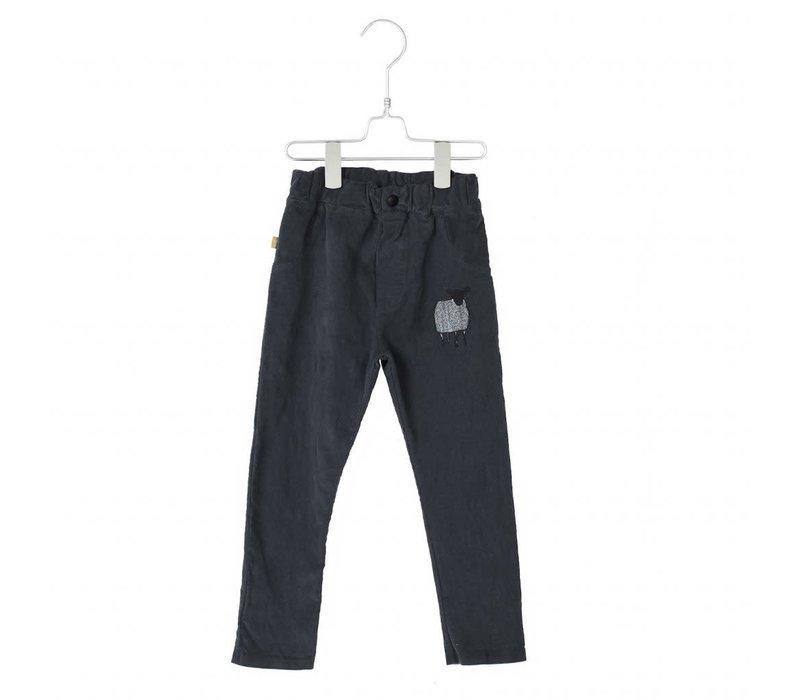 Lotiekids 5 Pockets Corduroy Vintag Black