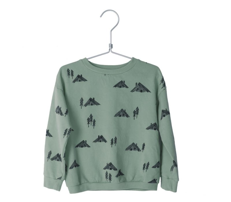 Lotiekids Sweatshirt Cottages Dark Mint