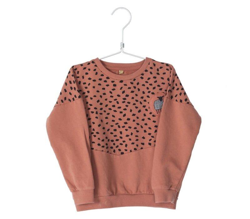 Lotiekids Sweatshirt Stones/Solid Brick