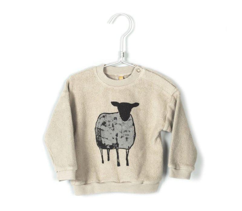 Lotiekids Baby Sweatshirt Polar Sheep Beige