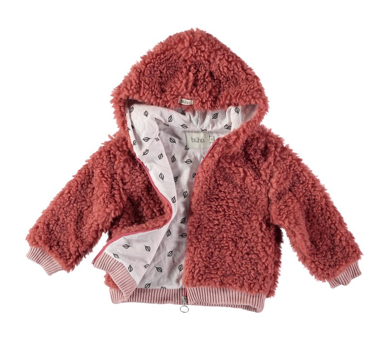 Buho Panda Fur Hood Girl Jacket