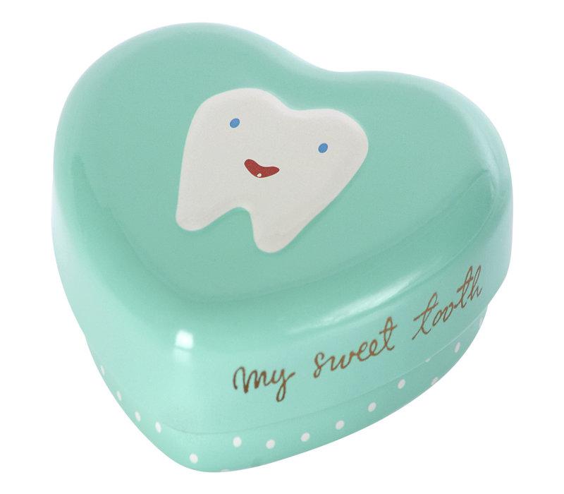 Maileg Metal tooth box blue