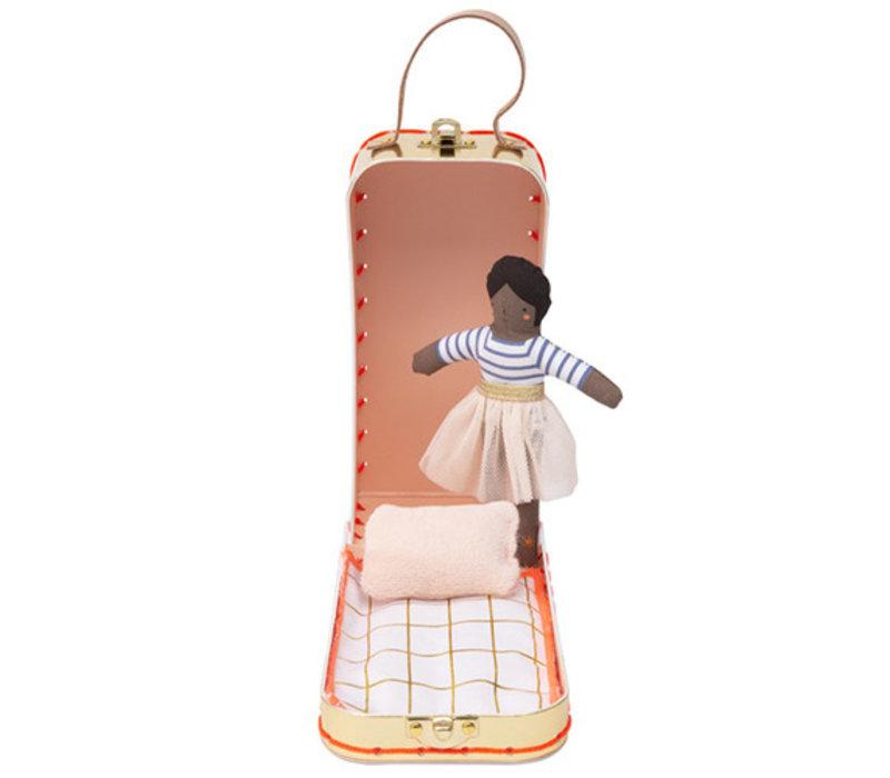 Meri Meri Mini doll ruby in suitcase 12cm