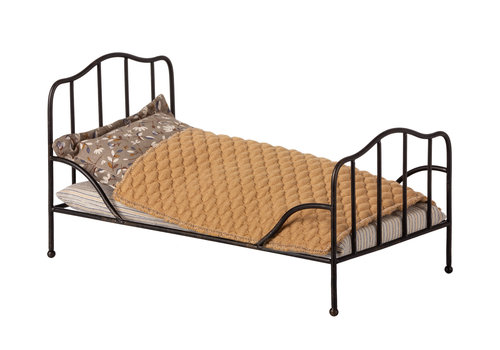 Maileg Maileg vintage bed mini - antracite