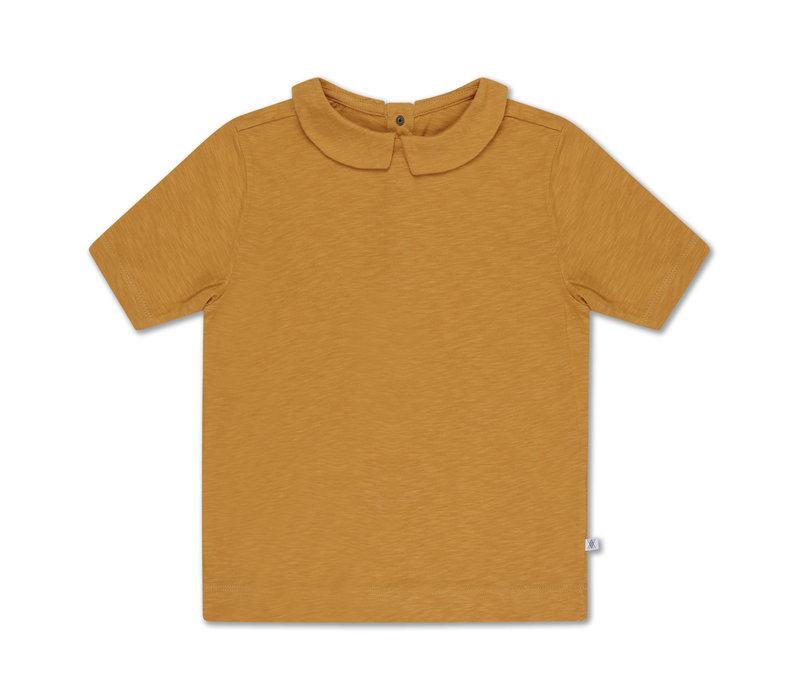Repose AMS 32. T-shirt with collar - sun gold