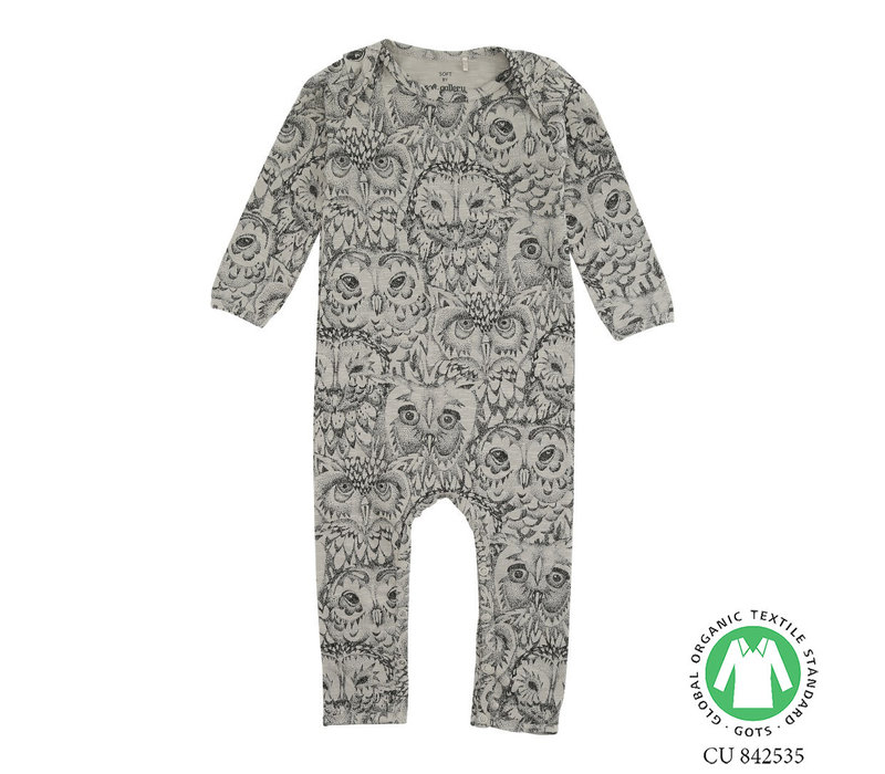 Soft Gallery- Owl -Jumpsuit-grey