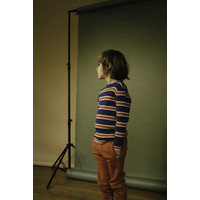 Repose AMS 40. Knit Sweater Washed blue stripe