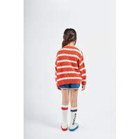 Bobo Choses striped knitted cardigan