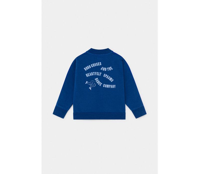 Bobo Choses bobo stripped zipped sweatshirt