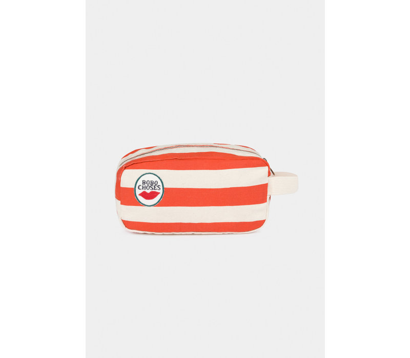 Bobo Choses red stripes pouch