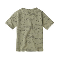 Mingo T-shirt Grass Print Oak