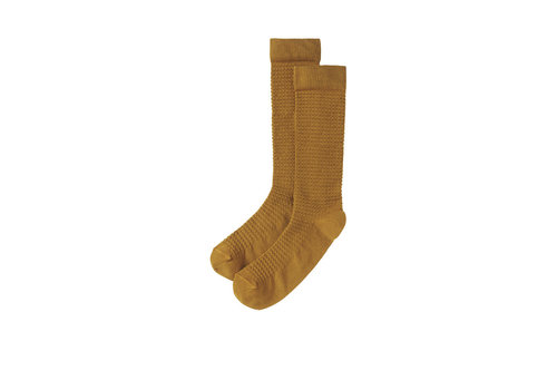 Mingo Mingo Knee socks Spruce Yellow
