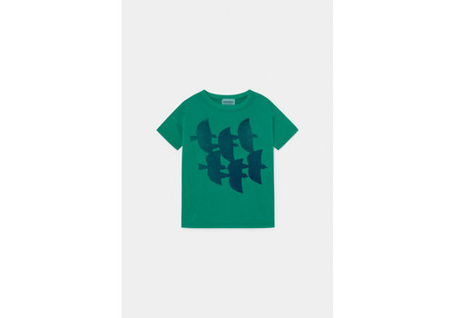 Bobo Choses Bobo Choses Flying birds t-shirt green