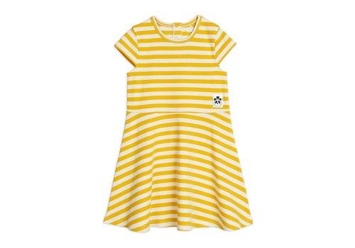 Mini Rodini Mini Rodini Stripe rib SS dress