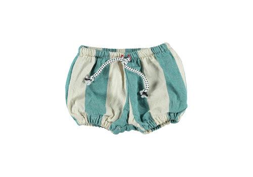 PIUPIUCHICK Piupiuchick Baby Shorties Emerald Stripes