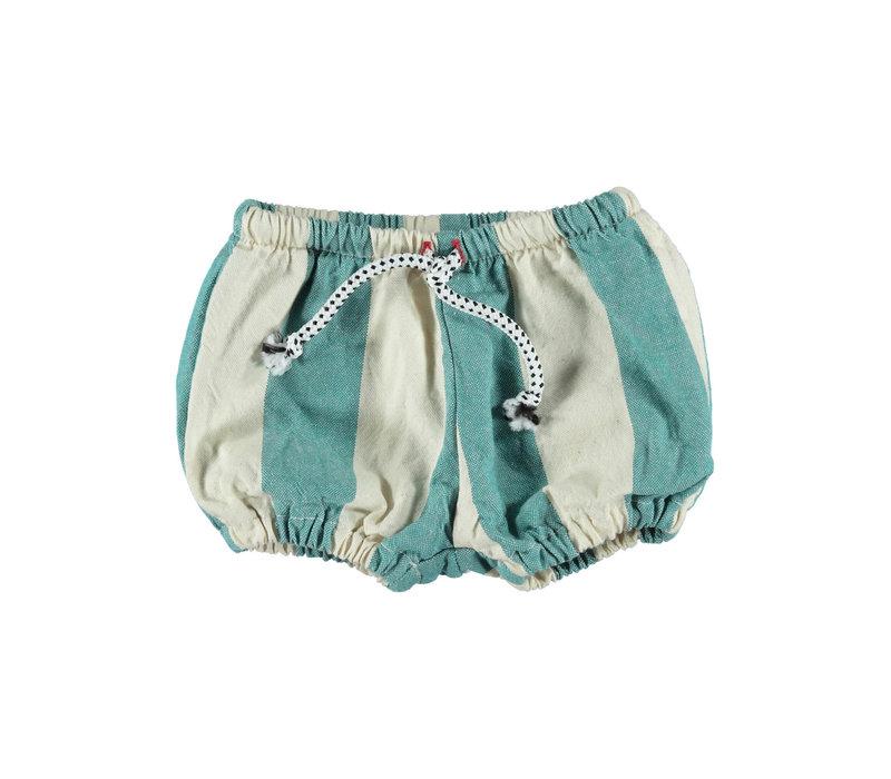 Piupiuchick Baby Shorties Emerald Stripes