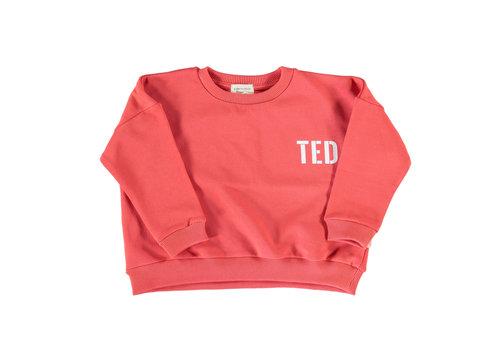 PIUPIUCHICK Piupiuchick Unisex sweater red w/ white print