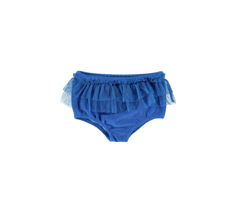 Piupiuchick High waisted shorties w/ tulle