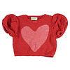PIUPIUCHICK Piupiuchick knitted t'shirt ballon red w/ heart