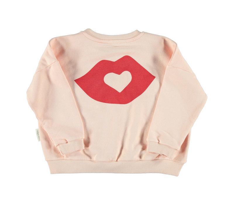 Piupiuchick Unisex sweater pale pink w/ print
