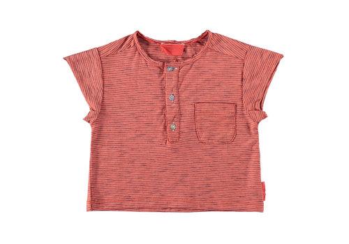 PIUPIUCHICK Piupiuchick buttoned t'shirt red