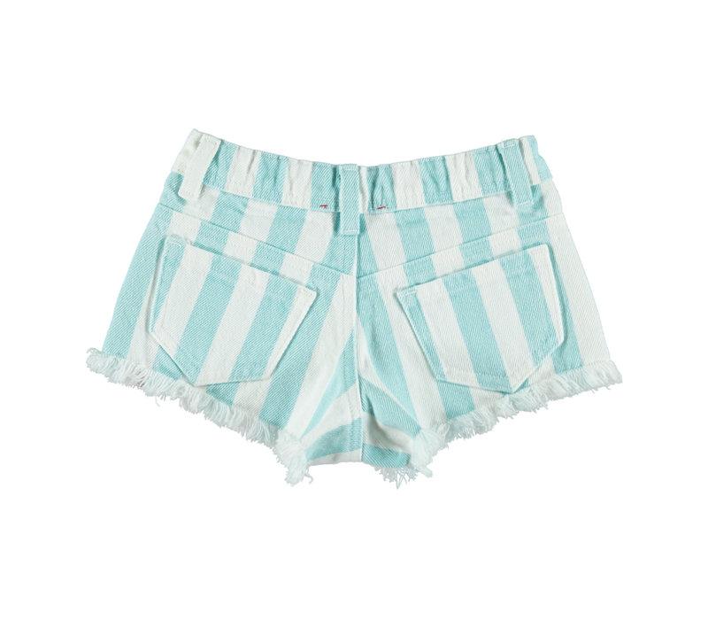 Piupiuchick Shorts emerald stripes