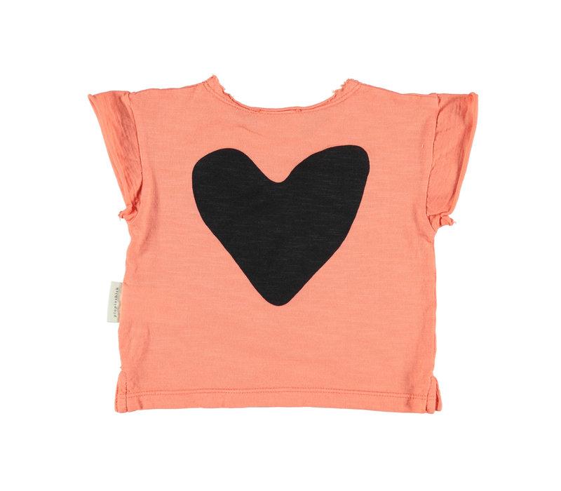 Piupiuchick logo t-shirt coral