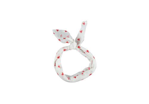 PIUPIUCHICK Piupiuchick Bandana Red hearts pattern