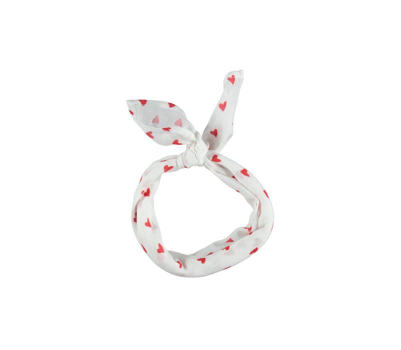 Piupiuchick Bandana Red hearts pattern