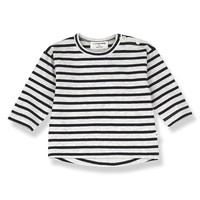 1+ in the Family Cannet Long sleeve Stripe Blue notte
